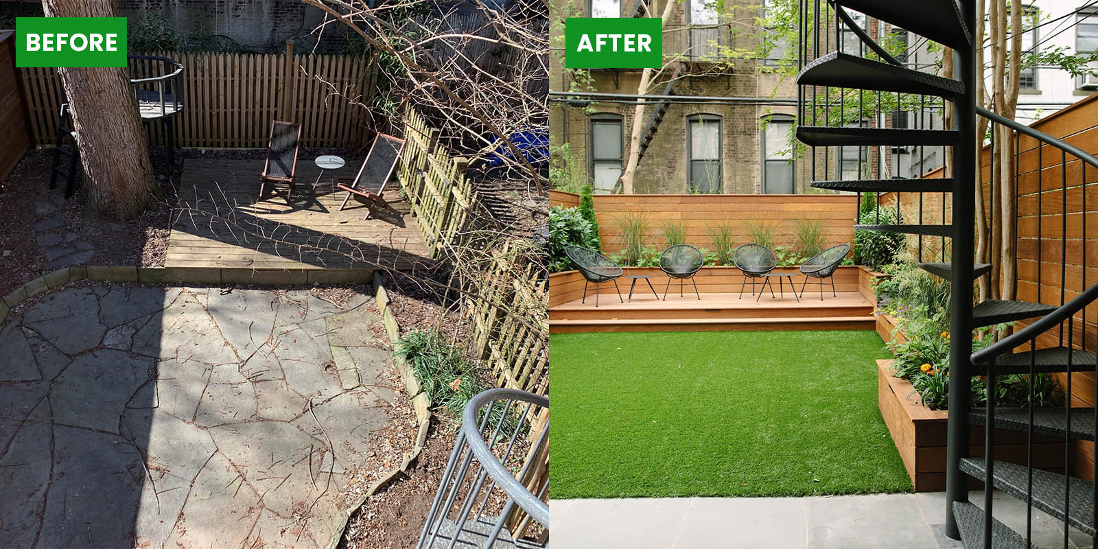 Terrace Landscaping Client Before and After